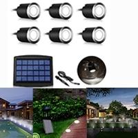 LED Solar Deck Light Garden Pool Light