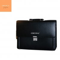 Cowhide Real Leather Laptop Bag/ Briefcase