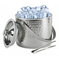 Hammered Double Wall Ice Bucket