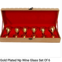 Gold Plated Wine Glass Set Of 6