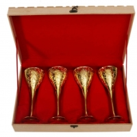 Gold Plated Wine Glass Set Of 4