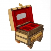 Beautifully Engraved Resin Jewellery Box