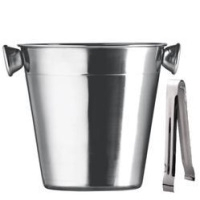 Ice Stainless Steel Buckets with Tong