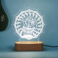 Santa Acrylic LED Lamp