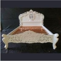 White Rococo Bed Queen