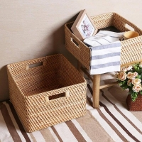Bamboo Rattan Storage Basket