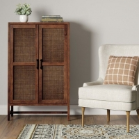 High Quality Mounted Rustic Wooden Cabinet
