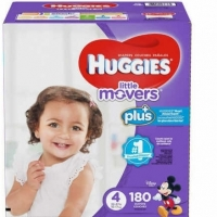 Huggies Plus Diapers Size 4 22-37lbs, 180ct