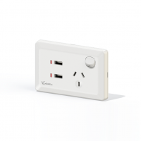 Power Point  With Dual 2.4A USB Socket Charger