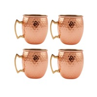 Copper Hammerd Mugs