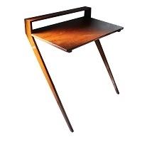Brown Wood Desk, Computer Desk, Wooden Wall Desk