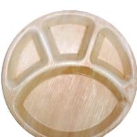 Areca Leaf Compartment Plates - Round