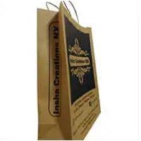 Brown Printed Paper Bag