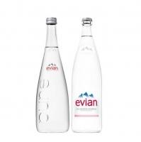 Bottled Evian Natural Mineral Water