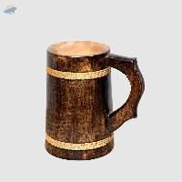 Rope Wood Beer Mug