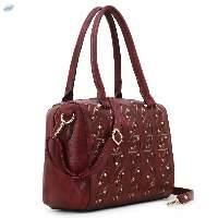 Spice Art Women's Maroon Faux Leather Handbag