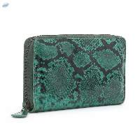 Snake Printed Genuine Leather Purse For Ladies